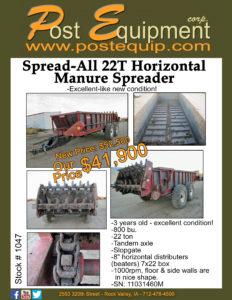 Spread-All 22T Manure Spreader Flyer