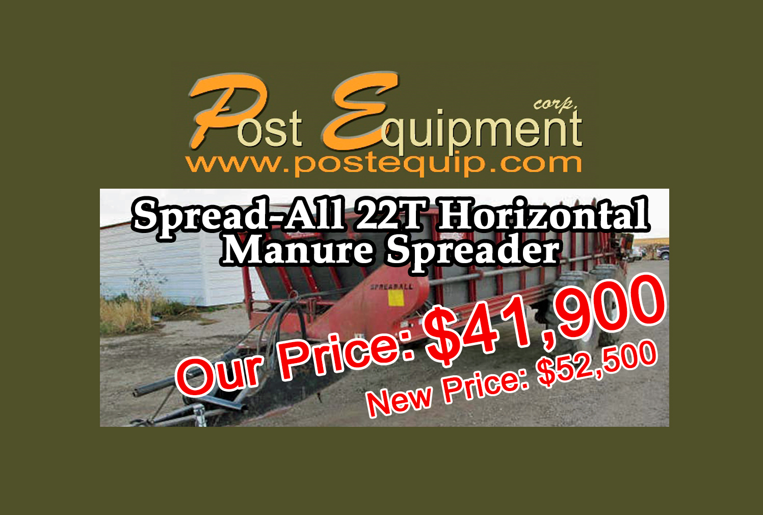 Spread-Alll Manure Spreader for sale - GREAT DEAL!