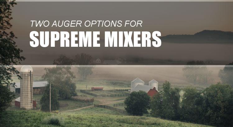 Supreme Mixer Wagon Augers