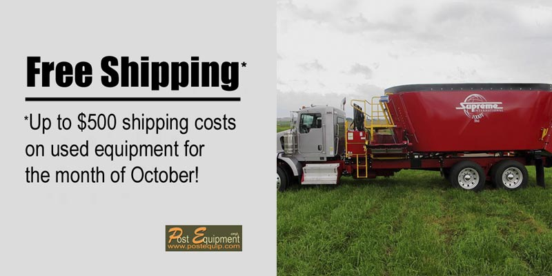 Free shipping from Post Equipment for the month of October 2015