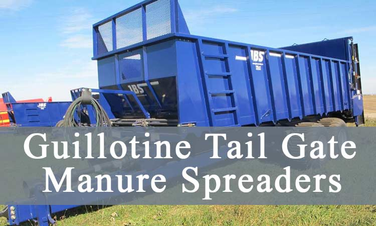 guillotine-tail-gate manure spreader