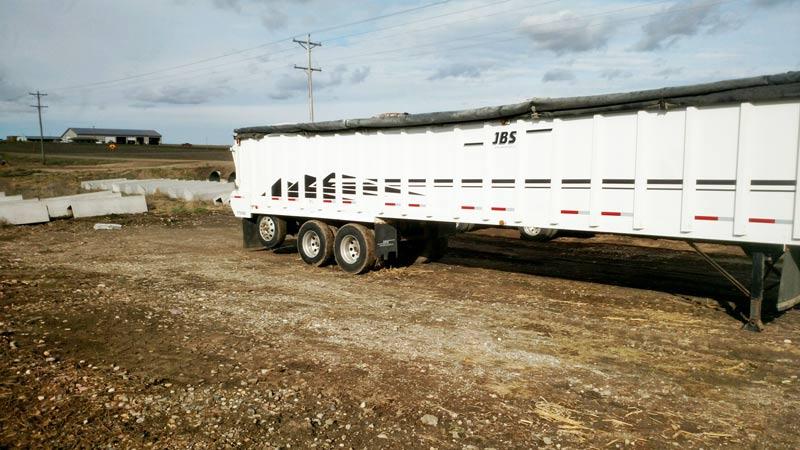 JBS 53' silage/forage trailer