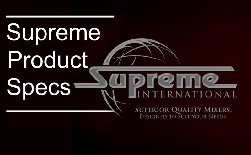Supreme International product Specs