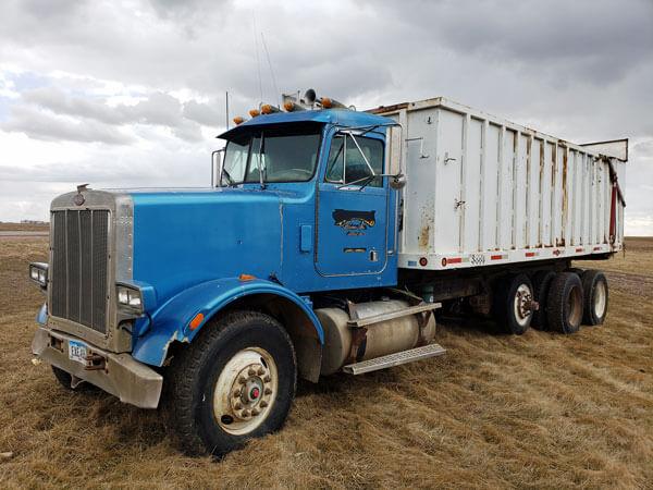 1991 Peterbilt Straight Truck With Silage Grain Dump Box