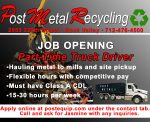 PMR Truck Driver Help Wanted