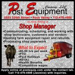 Shop Manager Help Wanted Ad